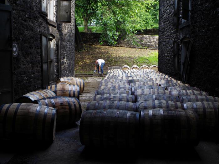 bourbon barrel header